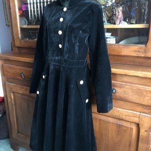 Stunning Black Velvet Dress